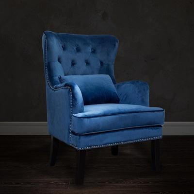 Bohemia Empir Style Кресло велюровое синее (с подушкой)