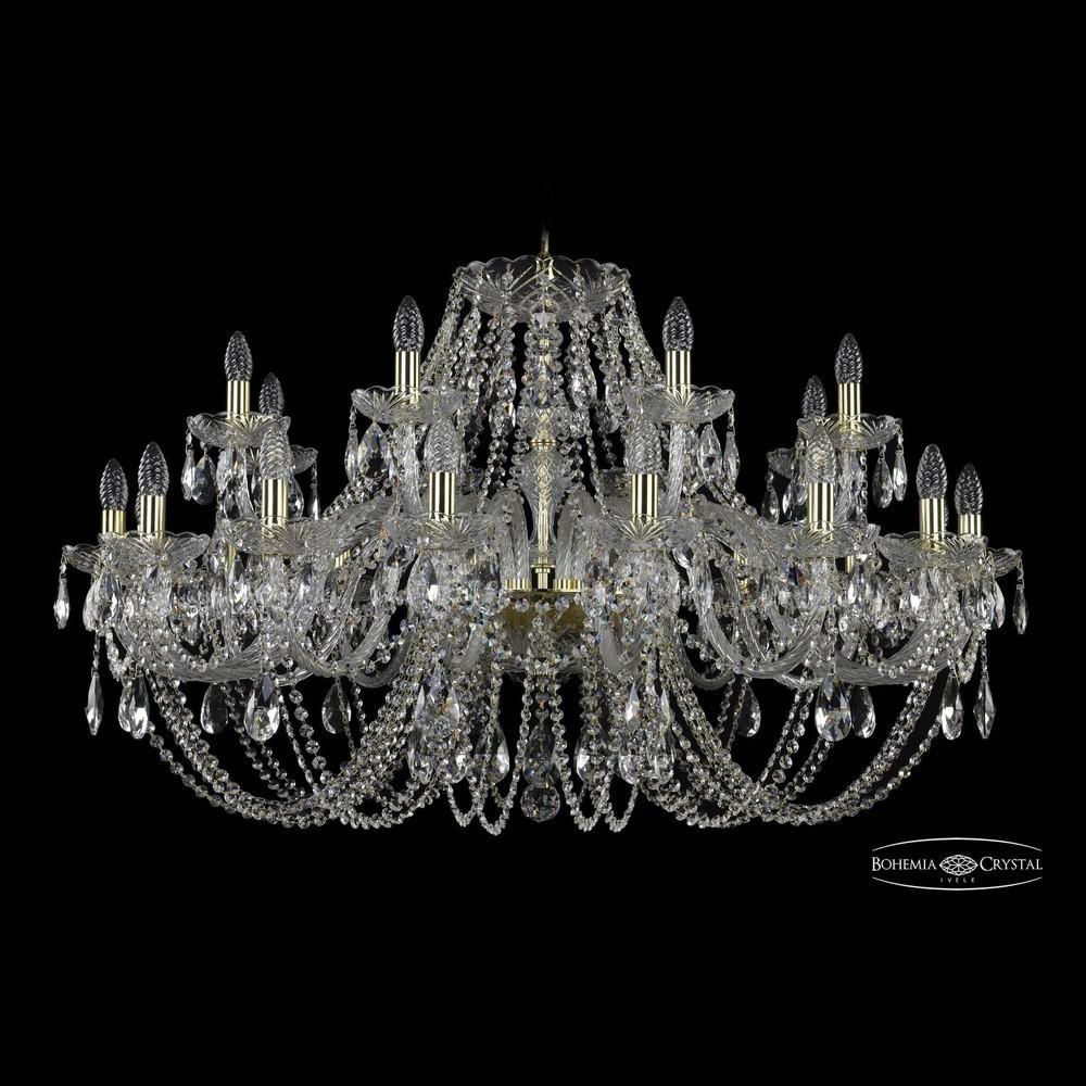 Люстры Большие Bohemia Ivele Crystal Люстра хрустальная 1406/16+8/400 G