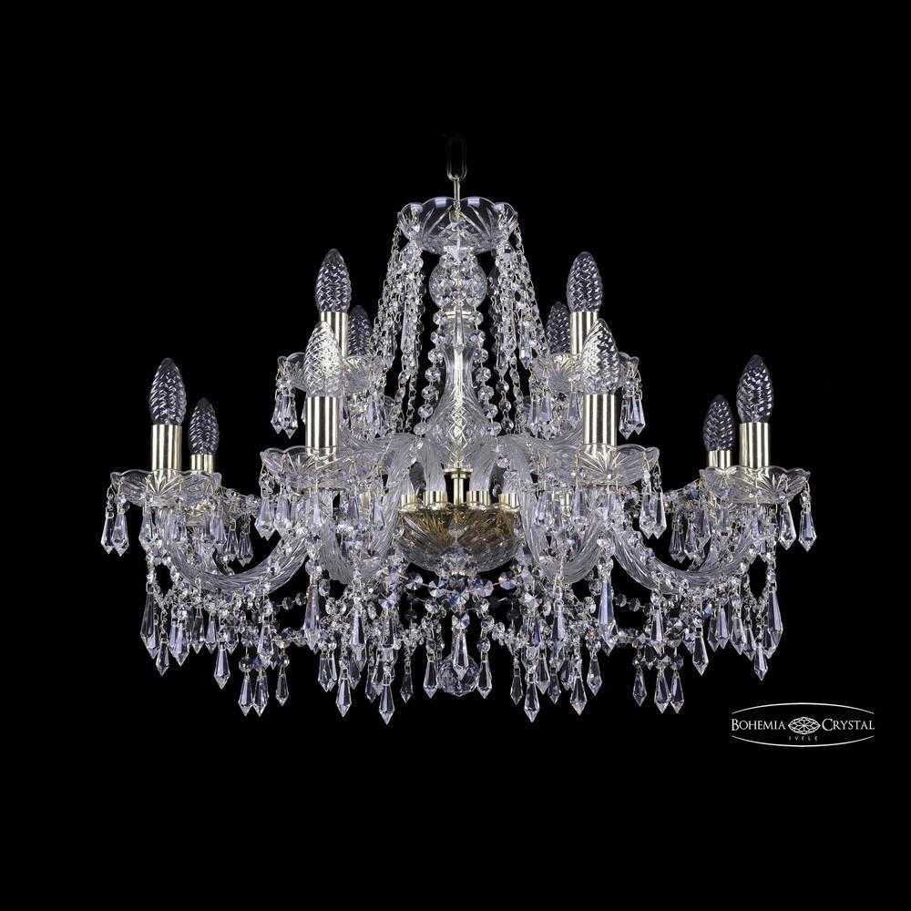 Люстры Bohemia Ivele Crystal Люстра хрустальная 1403/8+4/240 G