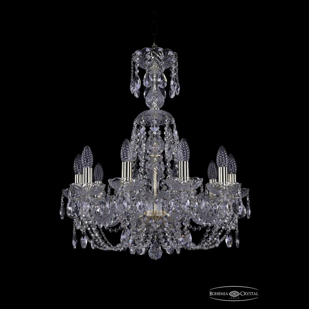 Люстры Bohemia Ivele Crystal Люстра хрустальная 1406/10/195/XL-64 G