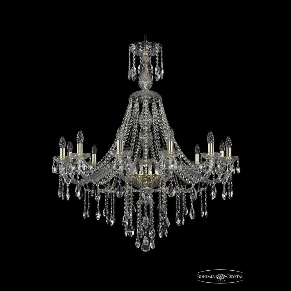Люстры Большие Bohemia Ivele Crystal Люстра хрустальная 1415/12/360/XL-113 G