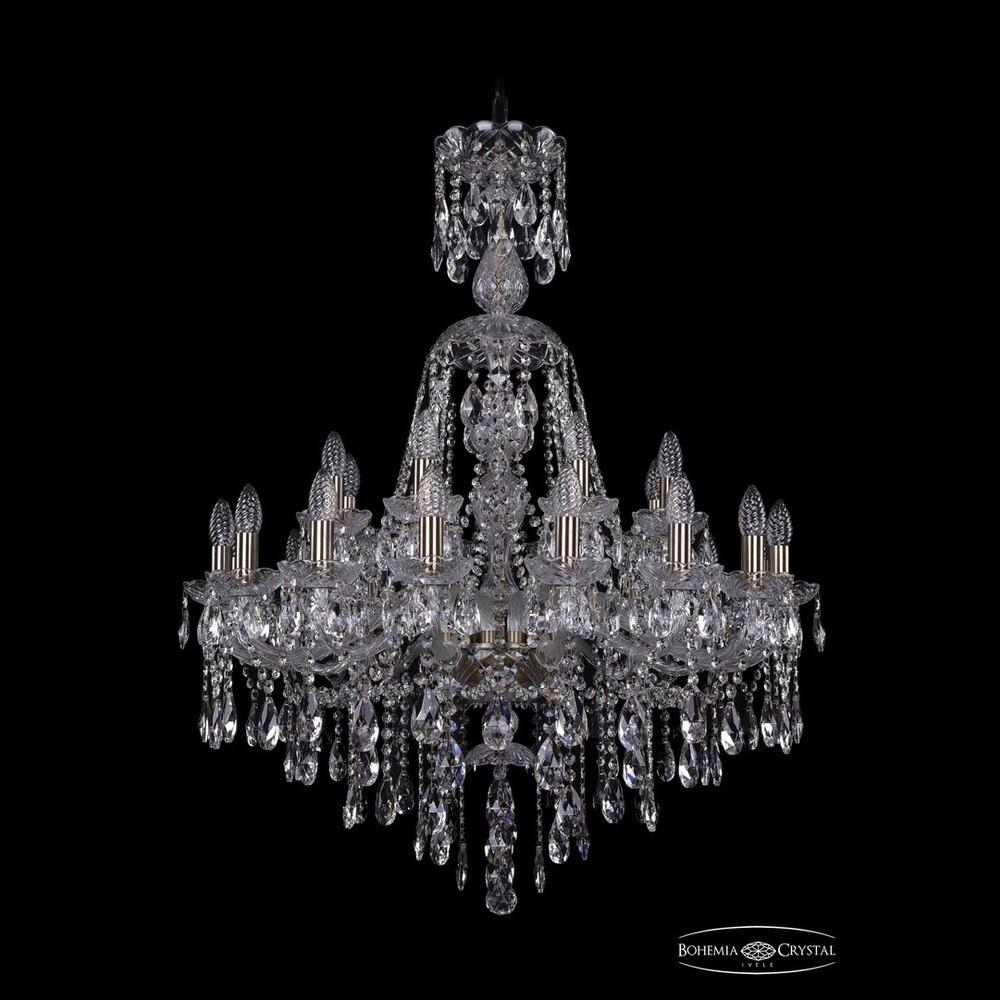 Люстры Большие Bohemia Ivele Crystal Люстра хрустальная 1415/16+8/300/XL-106 Pa