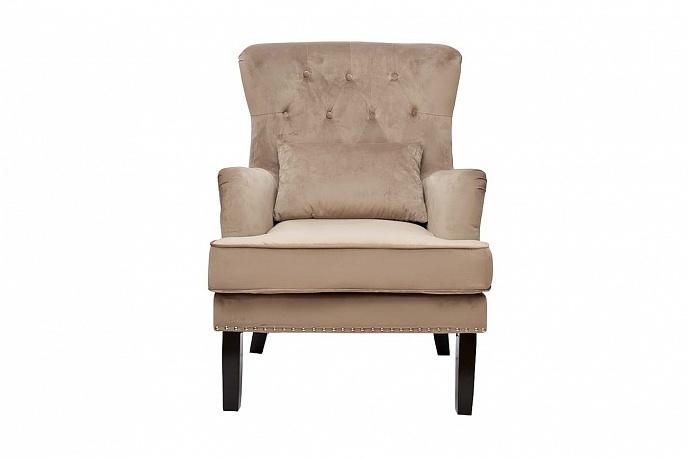 Bohemia Empir Style Кресло велюровое бежевое (с подушкой)