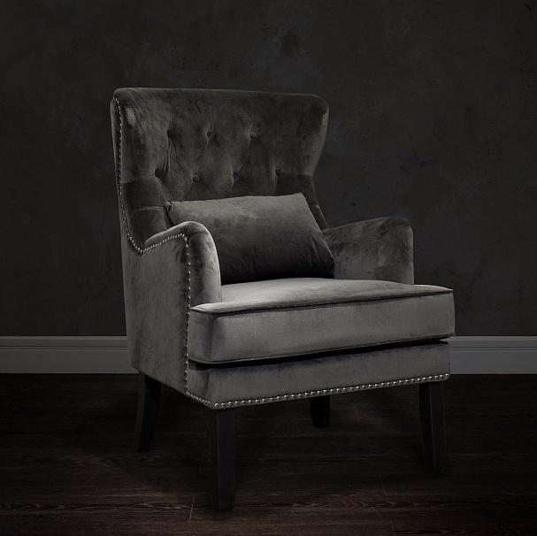Bohemia Empir Style Кресло велюровое серое (с подушкой)