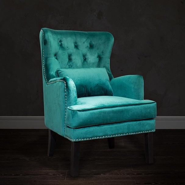 Bohemia Empir Style Кресло бархатное зеленое (с подушкой)
