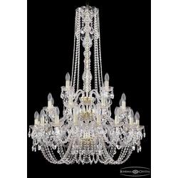 Люстры Большие Bohemia Ivele Crystal Люстра хрустальная 1402/16+8+4/300/h-123/3d G