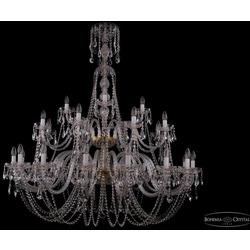 Люстры Большие Bohemia Ivele Crystal Люстра хрустальная 1406/16+8+4/530/XL-180/2d G