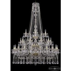 Люстры Большие Bohemia Ivele Crystal Люстра хрустальная 1413/20+10+5/400/h-158/3d G