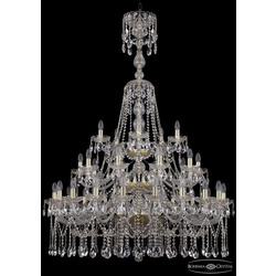 Люстры Большие Bohemia Ivele Crystal Люстра хрустальная 1413/20+10+5/400/XL-158/3d G