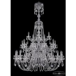 Люстры Большие Bohemia Ivele Crystal Люстра хрустальная 1402/20+10+5/400/XL-158/3d Ni