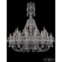 Люстры Большие Bohemia Ivele Crystal Люстра хрустальная 1406/20+10/400/XL-129 G
