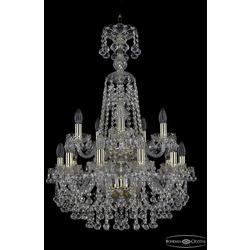 Люстры Bohemia Ivele Crystal Люстра хрустальная 1409/10+5/195/XL-83/2d G
