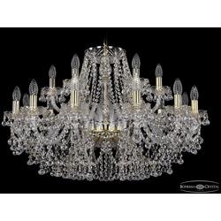 Люстры Большие Bohemia Ivele Crystal Люстра хрустальная 1409/12+6/300 G