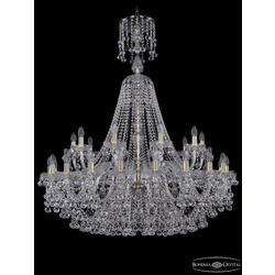 Люстры Большие Bohemia Ivele Crystal Люстра хрустальная 1409/20+10/400/XL-132 G