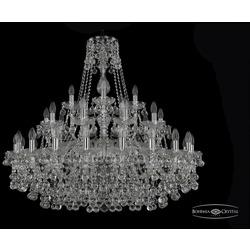 Люстры Большие Bohemia Ivele Crystal Люстра хрустальная 1409/20+10+5/360 Ni