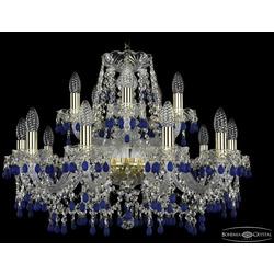 Люстры Bohemia Ivele Crystal Люстра хрустальная 1410/10+5/240 G V3001