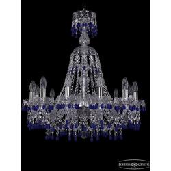 Люстры Bohemia Ivele Crystal Люстра хрустальная 1410/12/240/XL-74 Ni V3001