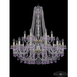 Люстры Большие Bohemia Ivele Crystal Люстра хрустальная 1410/12+6/300/h-95/2d G V7010
