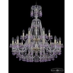 Люстры Большие Bohemia Ivele Crystal Люстра хрустальная 1410/12+6/300/XL-95/2d G V7010