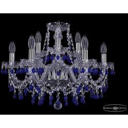 Люстры Bohemia Ivele Crystal Люстра хрустальная 1410/6+3/195 Ni V3001