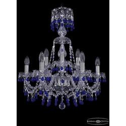 Люстры Bohemia Ivele Crystal Люстра хрустальная 1410/6+3/195/XL-66 Ni V3001