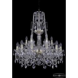 Люстры Bohemia Ivele Crystal Люстра хрустальная 1411/12+6/240/XL-83 G