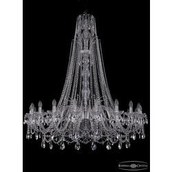 Люстры Большие Bohemia Ivele Crystal Люстра хрустальная 1411/20/460/XL-154 Ni