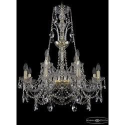 Люстры Bohemia Ivele Crystal Люстра хрустальная 1411/8+4/240/XL-83 G