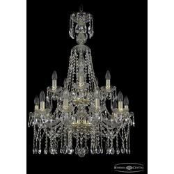 Люстры Bohemia Ivele Crystal Люстра хрустальная 1413/10+5/220/XL-92/2d G