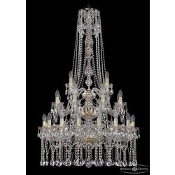 Люстры Большие Bohemia Ivele Crystal Люстра хрустальная 1413/16+8+4/300/h-134/3d G