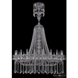 Люстры Большие Bohemia Ivele Crystal Люстра хрустальная 1413/20/400/XL-160 Ni