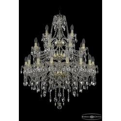 Люстры Большие Bohemia Ivele Crystal Люстра хрустальная 1415/16+8+4/300/3d G