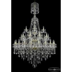 Люстры Большие Bohemia Ivele Crystal Люстра хрустальная 1415/20+10+5/400/XL-180/3d G