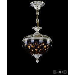 Люстры Bohemia Ivele Crystal Люстра бронзовая 1773/25 GW Amber/Blue/1E
