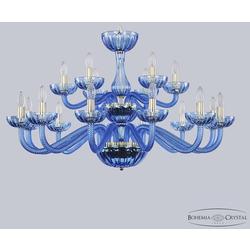 Люстры Bohemia Ivele Crystal Хрустальная люстра 1311/12+6/360/2d G Aq/Aquamarine/M-1H