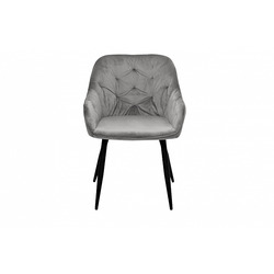 Bohemia Empir Style Кресло велюровое дымчато-серое