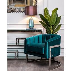 Bohemia Empir Style Кресло на металлическом каркасе сине-зеленое
