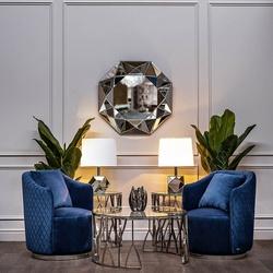 Bohemia Empir Style Кресло вращающееся темно-синее велюровое