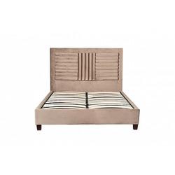 Bohemia Empir Style Кровать двуспальная велюровая серо-бежевая