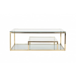 Bohemia Empir Style Стол журнальный со стеклянной столешницей (цвет золото)