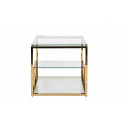 Bohemia Empir Style Столик журнальный со стеклянной столешницей (цвет золото)