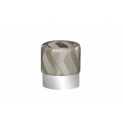 Bohemia Empir Style Пуф серебристый с металлическим ободом