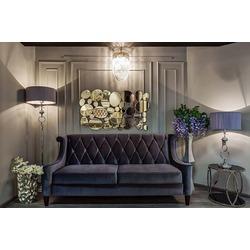 Bohemia Empir Style Диван бархатный трёхместный серый