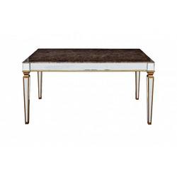 Bohemia Empir Style Обеденный стол с зеркальными вставками (мраморная столешница)