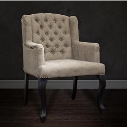 Bohemia Empir Style Кресло серо-бежевое бархатное