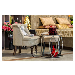 Bohemia Empir Style Кресло низкое бежевое велюровое