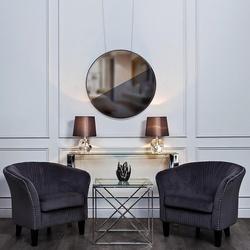 Bohemia Empir Style Кресло низкое велюровое серое