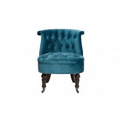 Bohemia Empir Style Кресло низкое сине-зеленое велюровое