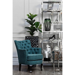 Bohemia Empir Style Кресло велюровое тёмно-бирюзовое