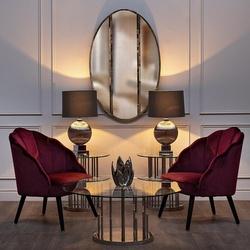 Bohemia Empir Style Кресло велюровое бордовое